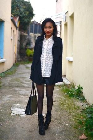 black Marc Jacobs boots - black Gap jacket - black Forever 21 shorts