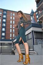 Zara skirt - Zara boots - Zara jumper