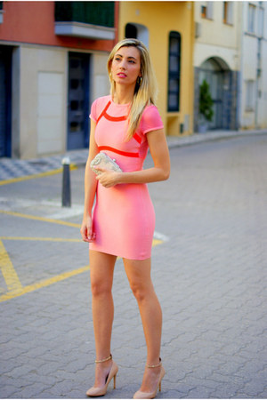 salmon celebindresslook dress