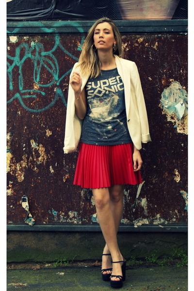 Topshop skirt - Zara blazer