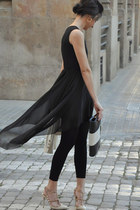 wwwoasapcom dress - Calzedonia leggings - Mango blazer - loewe bag