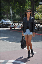 black Zara boots - black Zara jacket - black Givenchy bag
