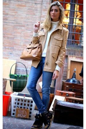 Zara jumper - Fornarina jeans - nowIStyle jacket - Hermes bag - Zara sneakers