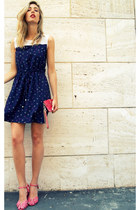 blue vamastyle dress - hot pink Armani Exchange bag