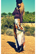 Mango dress - Zara boots - Zara hat - Massimo Dutti sweater