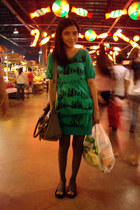 green saveonfashion dress - black suede Dept Store shoes