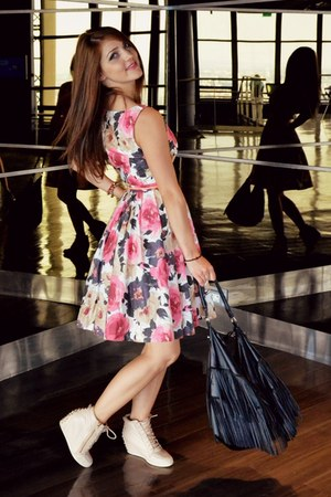 H&M dress - Bershka shoes - H&M bag