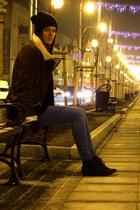 Market boots - Vila jeans - c&a hat - Terranova jacket - F&F gloves