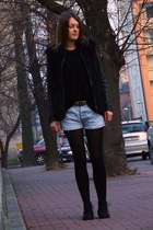 Secondhand sweater - Market boots - Ichi jacket - conte tights
