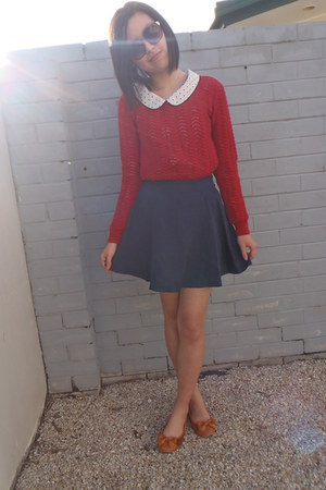 knit Dotti top - Valleygirl shoes - Chic a booti skirt - from japan blouse