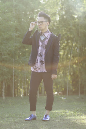 navy Deisel shirt - blue H&amp;M shoes - navy Ronnie YU suit