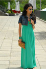 Aquamarine-sweet-g-dress-navy-denim-mango-jacket