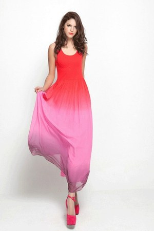 red Raysuudio dress