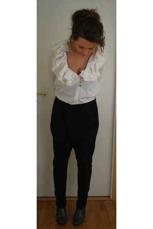 acne blouse - Zara pants - Skopunkten shoes - H&M - vintage necklace