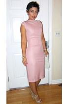 light pink DIY dress - neutral Steve Madden pumps