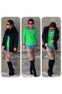Black-victorias-secret-boots-black-h-m-coat-dark-green-gap-sweater