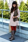 Nude-forever-21-dress-charcoal-gray-target-mossimo-boots
