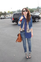 navy jeans - navy Zara jacket