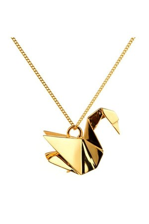 origami swan Origami Jewellery necklace