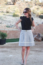 inverted pleats gianni bini skirt - Bershka blouse - Jessica Simpson pumps