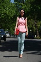 light blue Forever21 pants