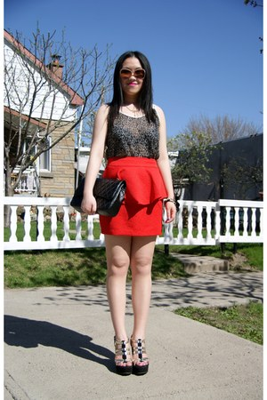red Urban Outfitters skirt