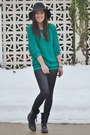 Black-steve-madden-boots-black-windsor-store-leggings-teal-express-top