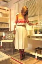 pleated skirt vintage skirt
