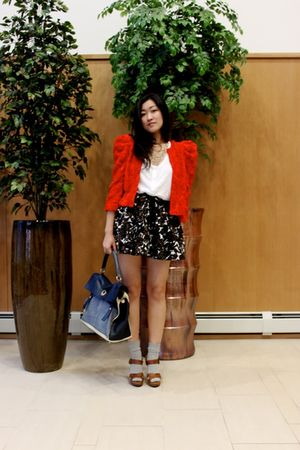 H&M blazer - Forever 21 skirt - Zara shoes - H&M top