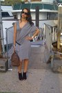 Black-peep-toe-nine-west-boots-heather-gray-alexander-mcqueen-dress-brown-eb