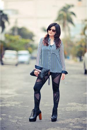 black studded leggings