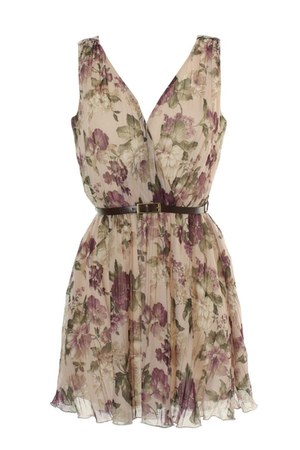 flowered Love dress