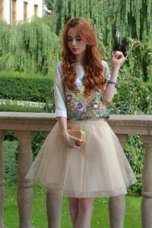 aquamarine BangGood top - cream Mosquito skirt