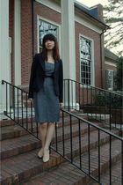 black Classiques Entier blazer - gray valette dress - black valette belt - beige