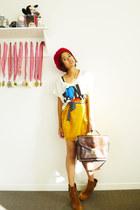 Valleygirl boots - Sportsgirl hat - bonjour Forever 21 shirt - vintage bag