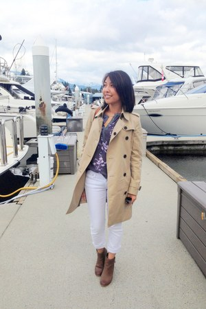 Burberry jacket - Rebecca Taylor top - Loft pants