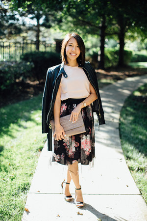 milly skirt - danier jacket - Zac Posen bag - banana republic pumps