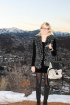 Boutique 9 boots - American Apparel dress - Betsey Johnson tights - Nila Anthony