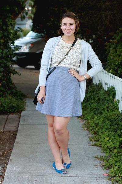 American Apparel skirt - vintage top - LeBunny Bleu flats