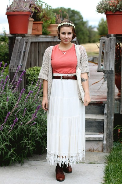 vintage skirt - Etsy purse - thrifted top
