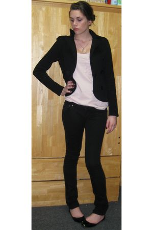 JJ Basics jacket - Urban Outfitters top - Forever 21 jeans - Steve Madden shoes