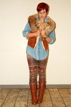 brown mink stole unknown brand accessories