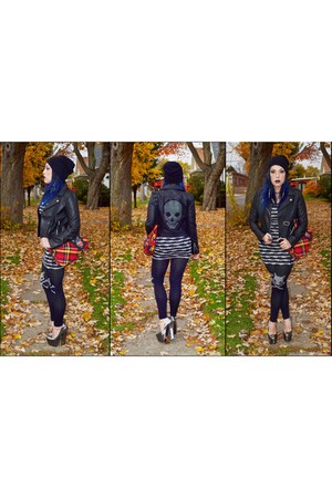 black H&M jacket - black Sugar & Babe leggings
