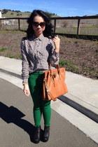 Michael Kors bag - Jeffrey Campbell shoes - H&M blouse - H&M pants