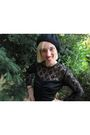 Black-vintage-dress-black-handmade-hat-black-vintage-shoes