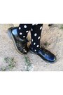 Black-vintage-oxford-doc-martens-shoes-black-mesh-printed-evil-twin-dress-ch