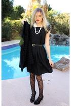 black Target dress - Philosophy shoes - black studded Topshop coat