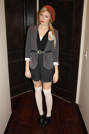 black f21 shorts - gray Urban Outfitters blazer - white Target socks - black Urb