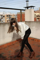 dark brown lita Jeffrey Campbell boots - ivory aw 201112 JUANMA BY EL CUCO shirt