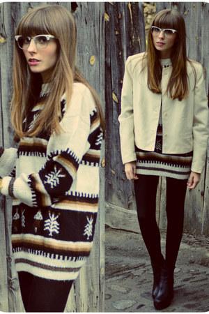 cashmere Num09 jumper - vintage Num09 jacket - cashmere Calzedonia tights